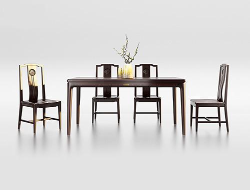 ZSK021餐桌 ZSK026餐椅